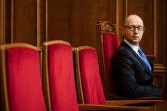 Ukrainian Prime Minister Arseniy Yatsenyuk Stock Photo