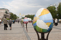 Ukrainian Pysanky festival. KIEV, UKRAINE - MAY 5, 2016: Ukrainian Pysanky festival (Festival of Easter eggs, 23.04-09.05) - The traditional Easter event for Stock Photography