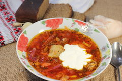 Ukrainian red borsch Stock Image