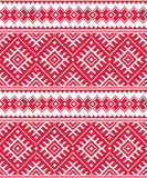 Ukrainian red seamless folk emboidery pattern or print Royalty Free Stock Photos