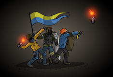 Ukrainian Revolution Stock Images