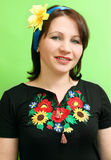 Ukrainian with a ribbon in her hair Stock Image