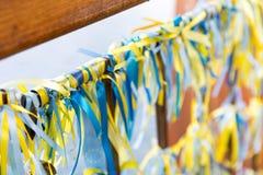 Ukrainian ribbons Royalty Free Stock Photo