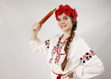 Ukrainian with a rolling pin Stock Photo