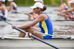 Ukrainian rower concentrates Stock Photography