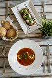 Ukrainian or Russian borscht stock image