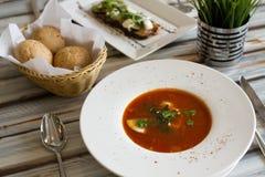 Ukrainian or Russian borscht soup royalty free stock photos