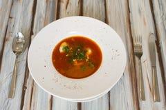 Ukrainian or Russian borscht soup royalty free stock photography