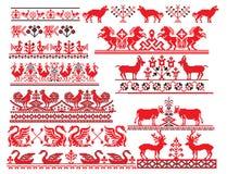 Ukrainian russian embroider animal_bird stock illustration