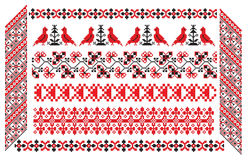 Ukrainian russian embroider pattern Stock Images