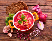 Ukrainian and Russian national Red Borsch Stock Photography