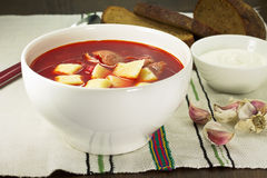 Ukrainian and russian national red borsch Stock Images