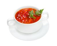 Ukrainian and russian national red soup  - borsch Stock Images
