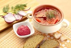 Ukrainian, russian national red soup borsch. Food Stock Photography