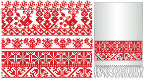 Ukrainian russian old embroider Royalty Free Stock Images