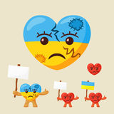 Ukrainian Sad Heart Royalty Free Stock Photo