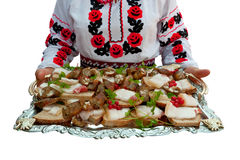 The Ukrainian sandwiches Stock Photos