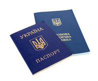 Ukrainian sanitary book and passport Royalty Free Stock Photography