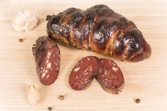 Ukrainian sausage from the blood Stock Photography