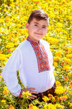 Ukrainian schoolboy Royalty Free Stock Photography