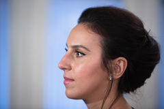 Ukrainian singer, actress and songwriter Jamala. KIEV, UKRAINE - May 18, 2017: Susana Alimivna Jamaladinova better known by stage name Jamala, is Ukrainian royalty free stock photography