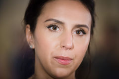 Ukrainian singer, actress and songwriter Jamala. KIEV, UKRAINE - May 18, 2017: Susana Alimivna Jamaladinova better known by stage name Jamala, is Ukrainian stock image