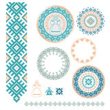 Ukrainian, Slavic, Belarusian traditional seamless folk embroidery pattern Stock Photography
