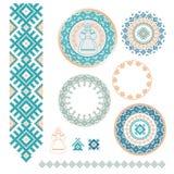 Ukrainian, Slavic, Belarusian traditional seamless folk embroidery pattern Stock Photography