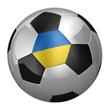 Ukrainian Soccer Ball Royalty Free Stock Images
