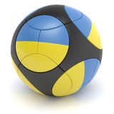 Ukrainian Soccer Ball. Soccer match ball of the 2012 European Championship with the flag of the Ukraine- clipping path included Vector Illustration