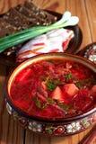 Ukrainian soup borsch Stock Photos