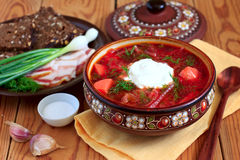 Ukrainian soup borsch Royalty Free Stock Photos