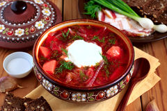 Ukrainian soup borsch Royalty Free Stock Image