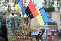The Ukrainian souvenirs on Maidan Kiev Ukraine Royalty Free Stock Photo