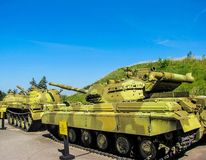 Ukrainian and Soviet tanks Royalty Free Stock Photo