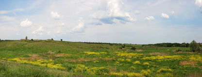 Ukrainian steppe, Cloudy sky Stock Images