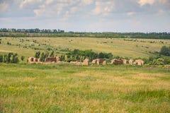 Ukrainian Stonehenge near the village of Konskie Razdory. In the Zaporozhye region. Ukraine. June 2010 stock image