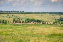 Ukrainian Stonehenge near the village of Konskie Razdory. In the Zaporozhye region. Ukraine. June 2010 stock photos