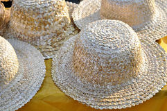 Ukrainian straw hats Royalty Free Stock Photos