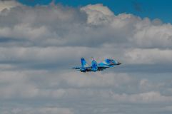 Ukrainian SU-27 display during Radom Air Show 2013 Royalty Free Stock Photography