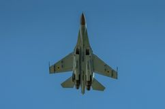 Ukrainian SU-27 display during Radom Air Show 2013 Stock Images