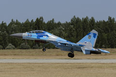 Ukrainian Su-27 Flanker. At Kecskemet Airshow royalty free stock photography