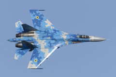 Ukrainian Sukhoi Su-27 Flanker in flight Stock Images