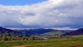 Ukrainian Switzerland. The bridge over the river Stryi Royalty Free Stock Image