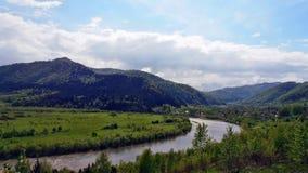 Ukrainian Switzerland. Stryj River between the Carpathian mountains Royalty Free Stock Photo