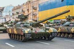 Ukrainian tanks at the military parade Royalty Free Stock Images