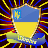 Ukrainian tape of board of a flag. Royalty Free Stock Photos