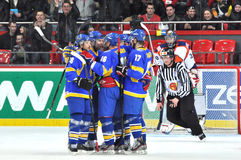 Ukrainian team stay together Stock Photography
