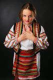 Ukrainian teenage girl in native costume Stock Photo