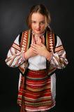 Ukrainian teenage girl in native costume Stock Photo